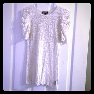 Cream sheer lace top